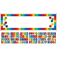 "Fun Rainbow Birthday Party Customizable Giant Banner Decoration, Multi , 65"" x 20"" cardboard paper"