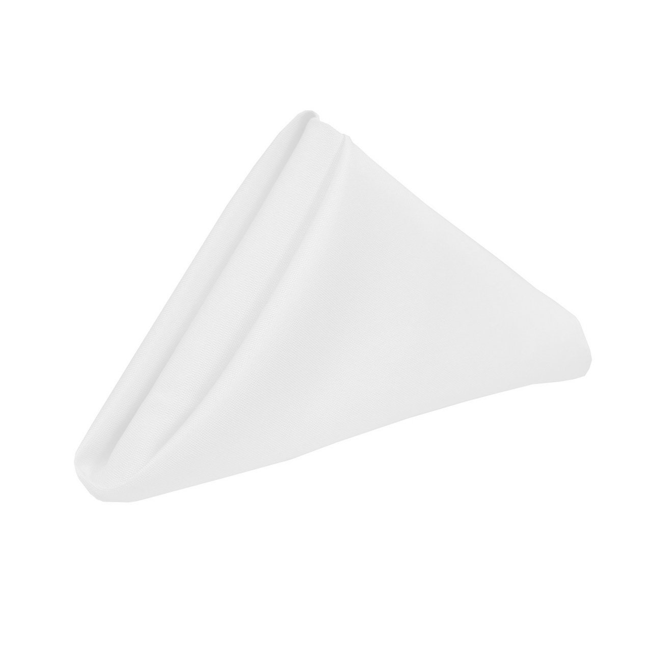 YCC Linen - 20 Inch Square Premium Polyester Cloth Napkins 10 Pack - White, Oversized, Double Folded and Hemmed Table Napkins for Restaurant, Bistro, Wedding, Thanksgiving and Christmas