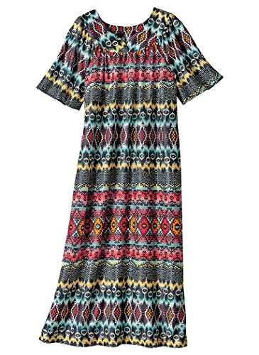 AmeriMark Waltz Length Lounger Aztec - Lounge Womens Dress