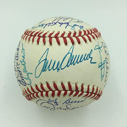 1969 NY Mets World Series Champs Team Signed Baseball Nolan Ryan Tom Seaver JSA