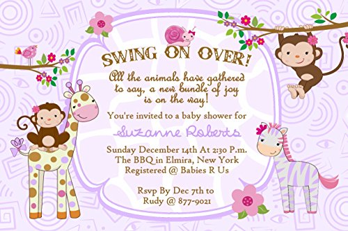 Jungle Baby Shower Invitations Cards Qty of 30 with envelopes