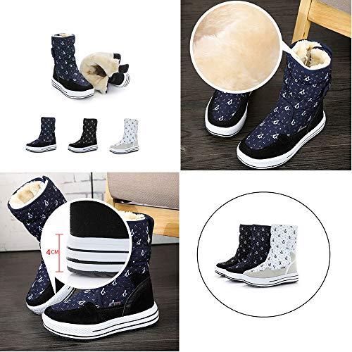 Calzado Felpa Polar Velcro Forro Invierno Botines Azul Botas Pamray Plataforma Nieve 4cm Mujer Negro Boots 34 Blanco 41 Calentado Zapatos C7OxPpxq