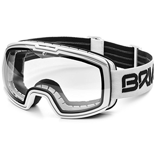 Briko–Masque de ski nyira 7.6photo pour homme et femme A91Matt/White/Phg13