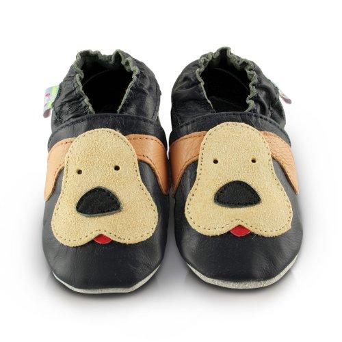 Snuggle Feet - Suaves Zapatos De Cuero Del Bebé Cachorro jugueton (12-18 meses)