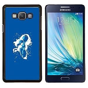 Qstar Arte & diseño plástico duro Fundas Cover Cubre Hard Case Cover para Samsung Galaxy A7 A7000 (Metroid Splash)