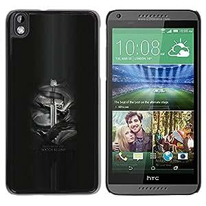 YiPhone /// Prima de resorte delgada de la cubierta del caso de Shell Armor - Y ahora mi reloj comienza Jon Nieve - HTC DESIRE 816