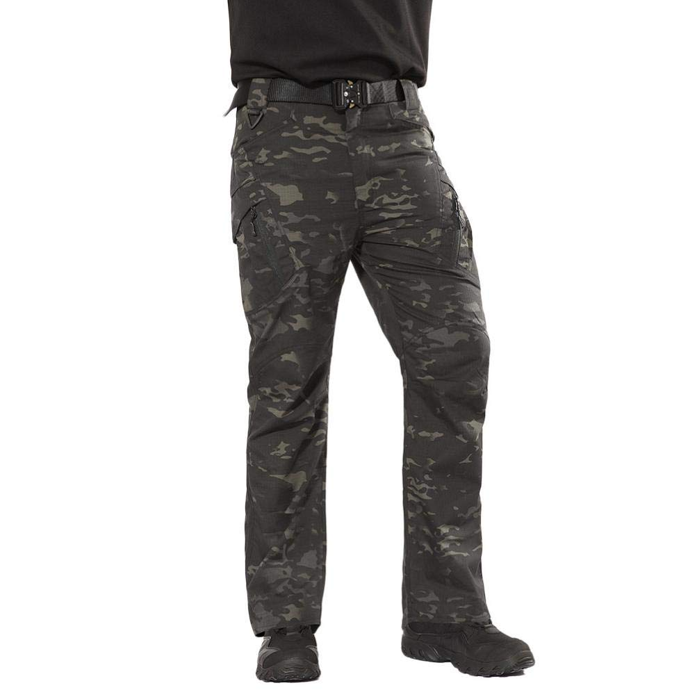 Realdo Hot!Clearance Sale Mens Daily Casual Solid Straight Outdoors Work Trousers Cargo Pants(X-Large,Camouflage)
