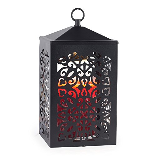 Candle Warmers Etc. Scroll Candle Warmer Lantern, Black (Reed Lantern Hanging)