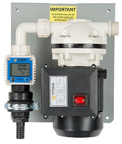 Titan 902-016-2 TCT TD1 Base Pump, Auto Nozzle, CS bracket, Flow Meter, 20' Discharge, Plastic - Pump Nozzle Base