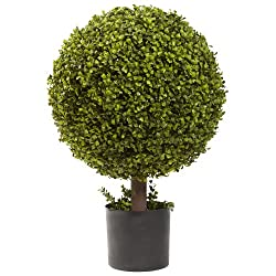 Nearly Natural 5919 Boxwood Ball Topiary, 27-Inch, Green