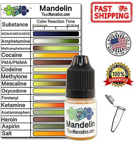 Test Narcotics - Mandelin Reagent Testing Kit | 7ml Bottle for up to 140 Individual Tests