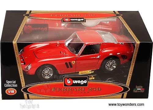 Burago 1/18 Scale - 3011 Ferrari 250 GTO 1962 red