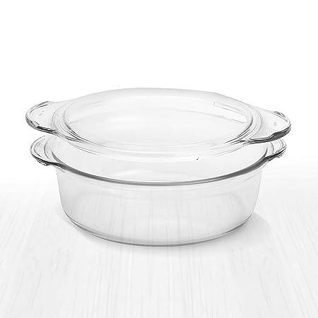 Cacerola redonda de cristal transparente de Simax, con tapa ...