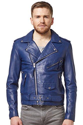 Brando Con Chaqueta Color Cuero Azul Marino Diseño De Hombre Nando Clásico H1AqrH