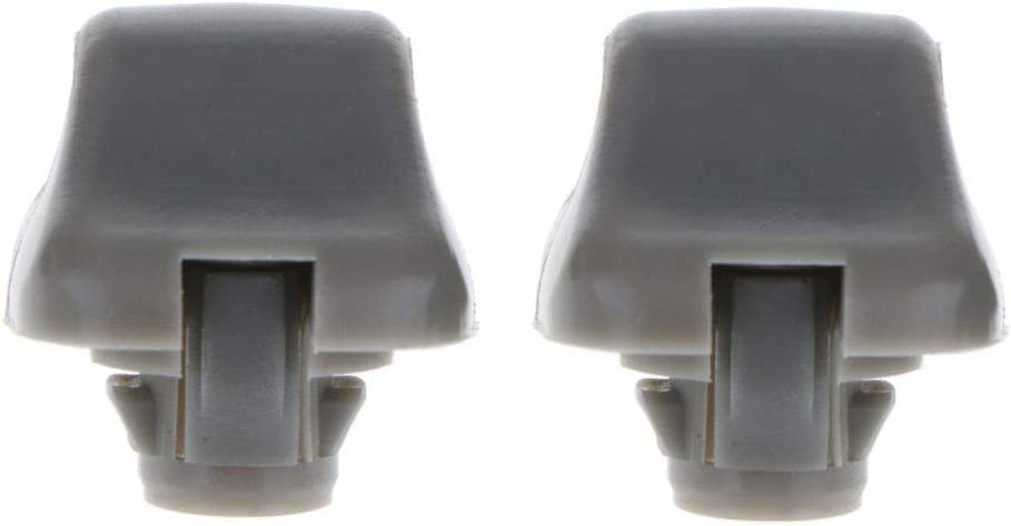 Replace 888217-S01-A01ZA Gray Pack of 2 Poweka Sunvisor Clip Hook Replacement Compatible with Honda 1998-2007 Accord 1996-2004 Civic 2007-2011 CR-V 1999-2010 Odyssey 2006-2011 Ridgeline