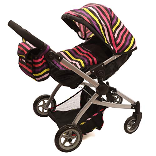 Little Mommy Twin Dolls (Babyboo Twin Stroller/Doll Pram- Deluxe Little Marcel Look Includes a Carriage Bag)