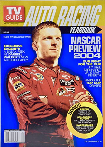2004 - TV Guide Auto Racing Yearbook - NASCAR Preview 2004 - Dale Earnhardt Jr Cover - Collectible Cutout #29 - Rare