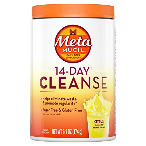Metamucil 14-Day Cleanse Psyllium Fiber Powder, Citrus, 6.1 Ounce - Metamucil Multihealth Fiber