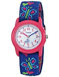 Timex Kids' 89001 Hearts And Butterflies Stretch Band Watch