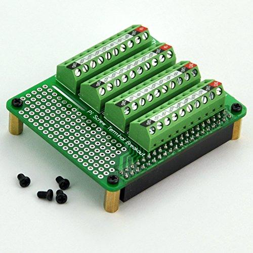 Electronics-Salon Pi Screw Terminal Block Breakout Module, for Raspberry Pi
