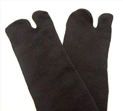 Osaka Japan TABI SOCKS, GEISHA,Geta KIMONO,Japanese 100% Cotton Comfy Ninja, Ninjutsu Tabi Socks Improved, (CNA) BLACK Senior/Adult