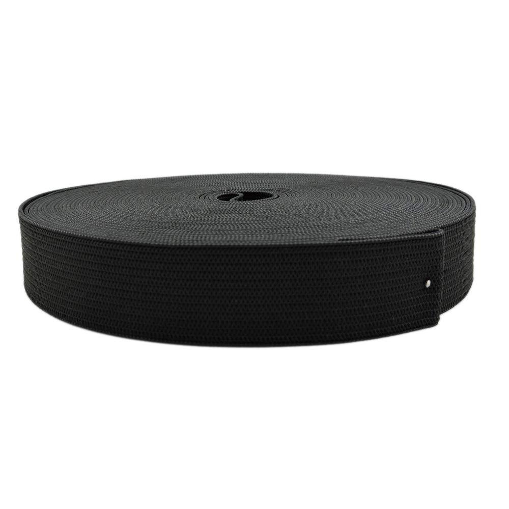 1 Inch by 43 Yard Black Sewing Elastic Band Spool Heavy Stretch High Elasticity Knit Elastic Band by MYUREN