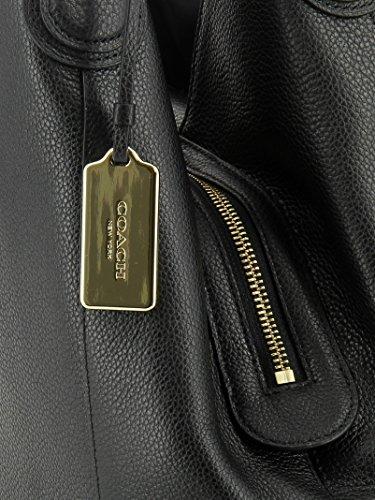 COACH-WOMENS-33547LIBLK-BLACK-LEATHER-SHOULDER-BAG