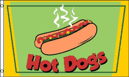 Hot Dogs 3x5 ft Poly Flag