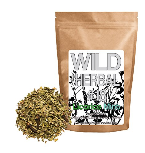Wild Herbal Tea #18 Licorice Mint Blend by Wild Foods - 3 Ingredient Tea with Peppermint, Licorice root, Cloves, 100% Natural (4 (Licorice Root Peppermint Tea)