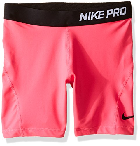 Nike Gold Training Shorts - Girl's Nike Pro Short Vivid Pink/Black Size X-Large