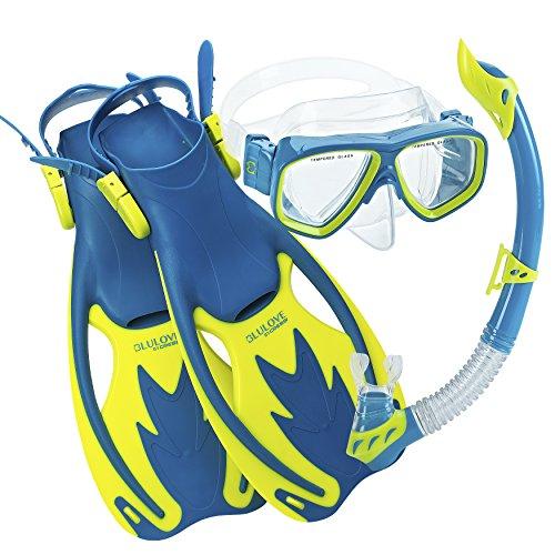 Cressi Junior Rocks Mask Fin Snorkel Set, - Composite Snorkeling Mask