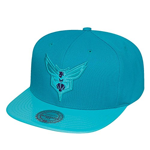 Mitchell & Ness Homme Casquettes / Snapback NBA Patent 2Tone Tonal Charlotte Hornets turquoise Réglable