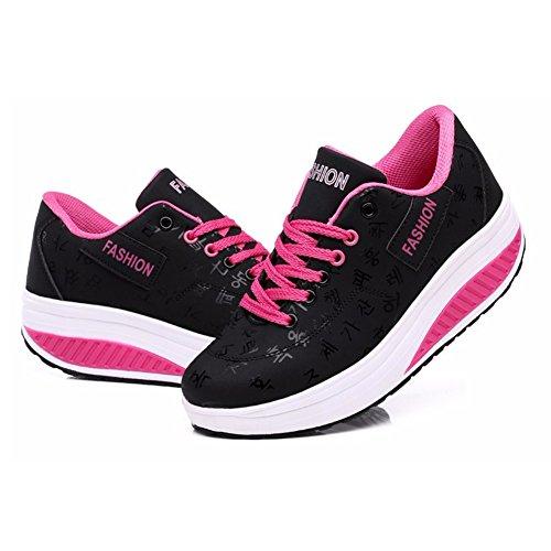 Femmes Chaussures noir Respirant 1 Marche de Baskets Sports FFZO6x