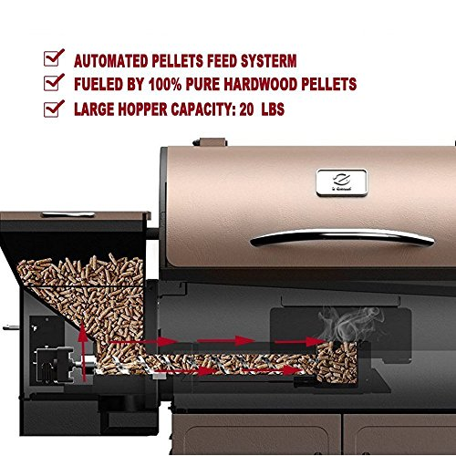 Wood Pellet Grill & Smoker with Patio Cover,700 Cooking Area 7 in 1- Electric Digital Controls Grill for Outdoor BBQ Smoke, Roast, Bake, Braise and BBQ with Storage Cabinet (Free 2 Wood Pellets) by Z GRILLS (Image #2)