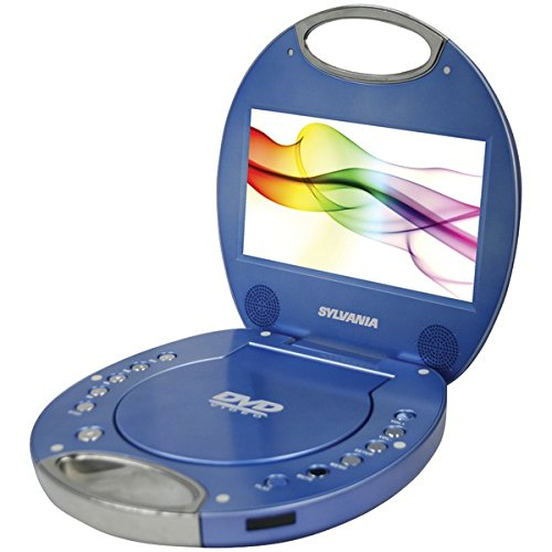 ue 7-Inch Portable DVD Player with Integrated Handle, Blue ()
