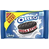 OREO Mega Stuf Chocolate Sandwich Cookies, 1 Resealable Family Size Pack