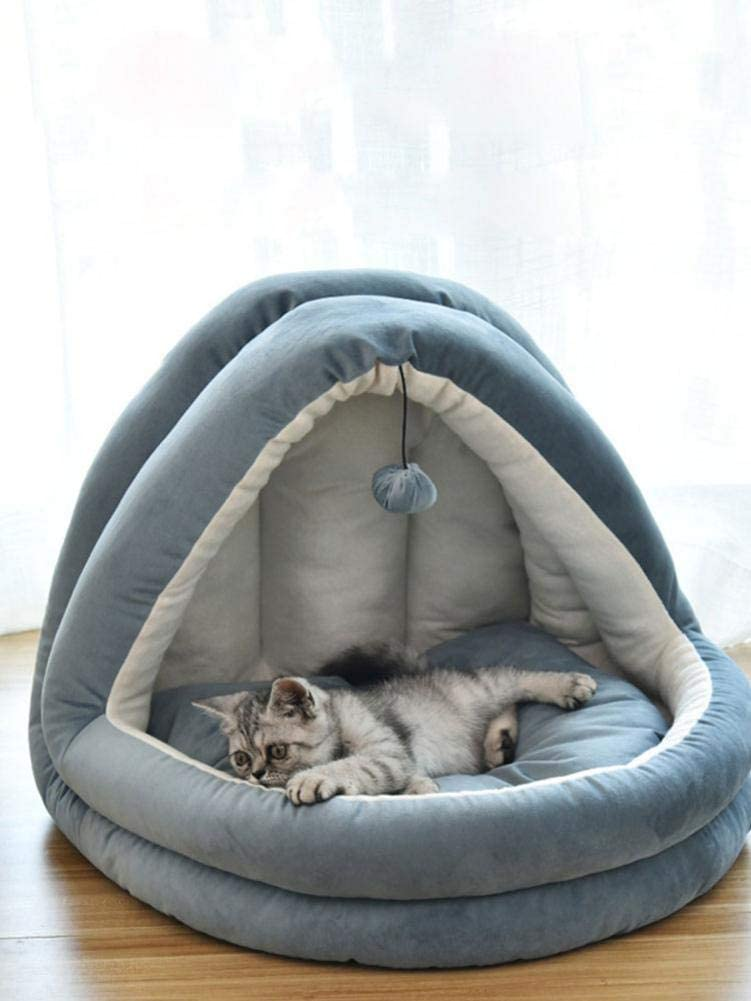 38x33x33cm Cat and Dog Bed Four Seasons Universal Suitable for Dogs Up to 2kg Pet Cave Bed Cats Up to 3kg