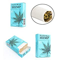 Natural Hemp Cigarettes are made with 100% American grown hemp, rolled in natural paper and use a biodegradable filter. Our hemp is sourced from the finest farms in the Central Coast of California. Disclaimer: This product does NOT contain an...