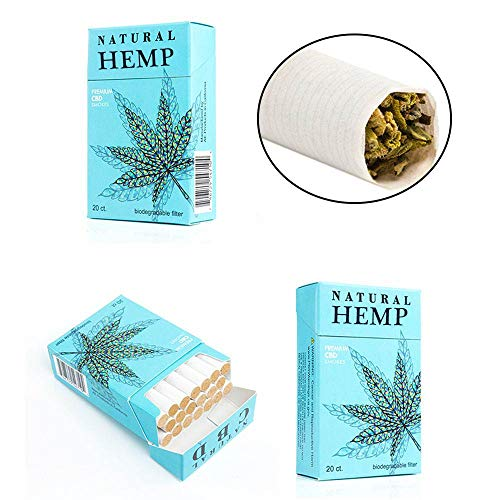Natural Hemp Cigarettes/NO Tobacco - 20 CT/Pack - Made in California & 100% Natural