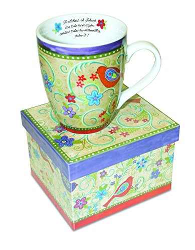 Divinity Boutique Spanish Inspirational Ceramic Mug, Gypsy Chicks, Psalm 9:1, Multicolor