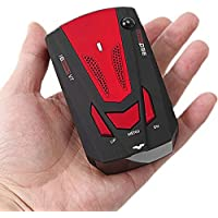NEW 360 Degree Detection Voice Alert Car Radar Detector Russia and English Voice For Car Speed Limited - Red