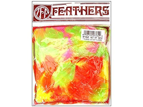 Zucker Feather (TM) - Loose Turkey Plumage Mix Dyed - Fluorescent Mix