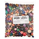 School Smart Assorted Shape Wood Beads - 1/2 to 1 inch - Pack of 460 - Assorted Colors