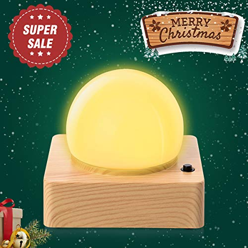 SHENNOSI Baby Bedside Lamp, Night Lights for Kids, Eye Caring Nursery Lamp, Light Waves Mosquito Repellent Lamp, Yellow Warm Light USB Rechargeable (Yellow)