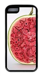 iPhone 5c case, Cute Watermelon Clock iPhone 5c Cover, iPhone 5c Cases, Soft Black iPhone 5c Covers