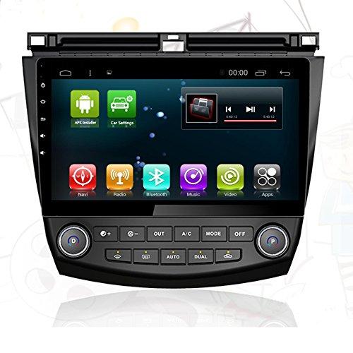 Car Radio GPS Player Android 7.1 Navi for Honda Accord 7 2003-2007 Car Multimedia Head Unit Audio Stereo WIFI GPS Navigation Bluetooth (1+16G for Honda Accord 7 2003-2007)