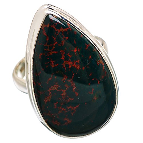 Ana Silver Co Large Rare Bloodstone 925 Sterling Silver Ring Size 9.5 RING840323