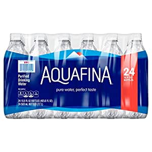 Aquafina Water, 16.9 Fl Oz (Pack of 24)