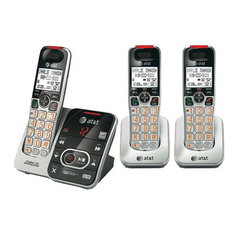 AT&T CRL32102 Cordless Phone and 2 CRL30102 Handsets