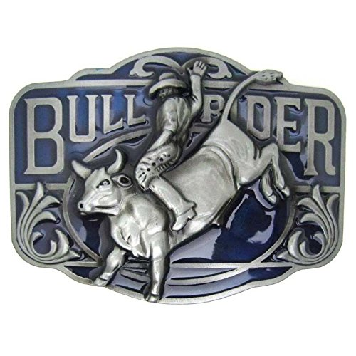 Rodeo Bull Rider Western Cowboy Rodeo Horse Riding Bull Rider Lot Metal Mens Leather Belt Buckle